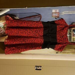 Rare Hot Topic red leopard print dress